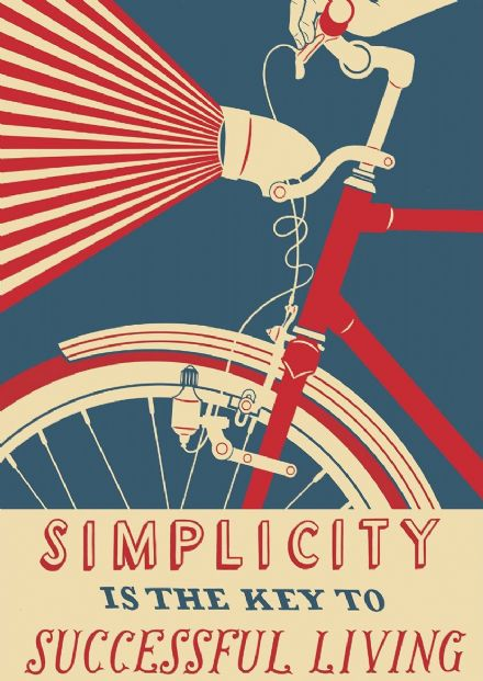 Simplicity is the Key to Successful Living Travel Art Print/Poster. Sizes: A4/A3/A2/A1 (002309)